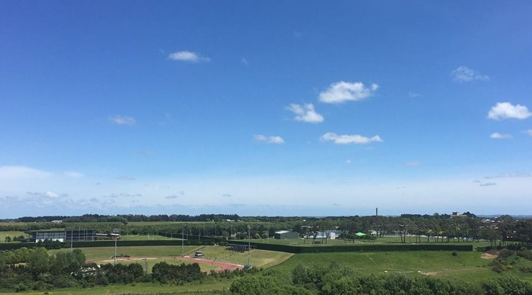 View out over the SRI from Massey's Manawatū campus